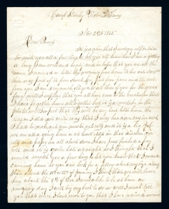 Dunban to parents, from Camp Stanley, Victoria, Tex., November 29, 1865