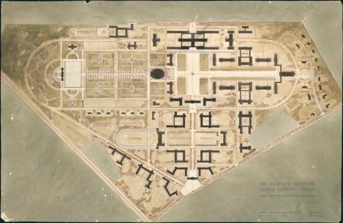 Rice Institute master plan, ca. 1911