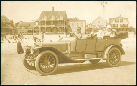 Autry family and Winton car