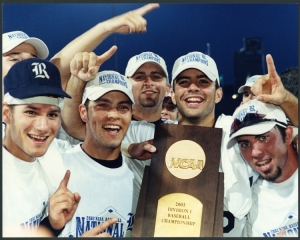 The Rice Owls win the 2003 NCAA Division I Baseball Championship.