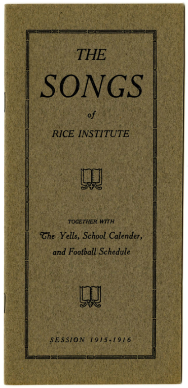 The Songs of Rice Institute