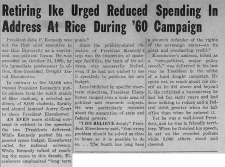 President Eisenhower article
