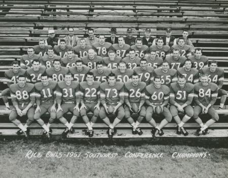 1957 SWC Championship Team