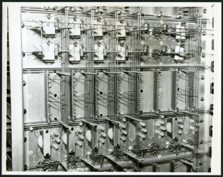 Rear of memory rack