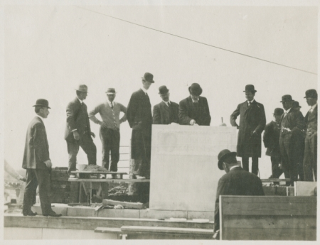 Laying of the Cornerstone of the Administration Building