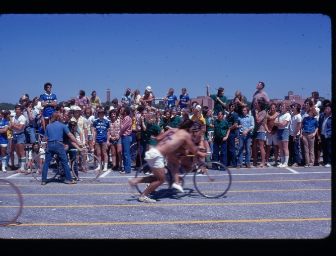 Beer Bike Race starters, 1974