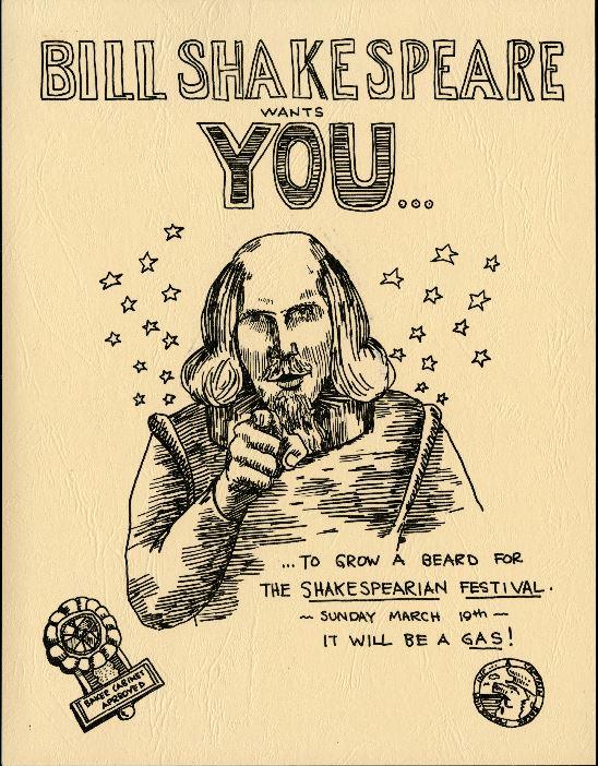 Shakespeare Festival poster, Baker College, 1972
