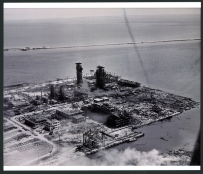 Texas City disaster area, post-explosion photographs, 1947