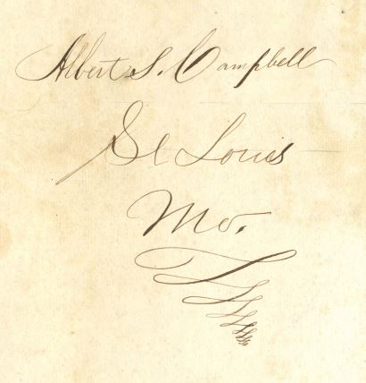 Albert Sherrad Campbell's Signature