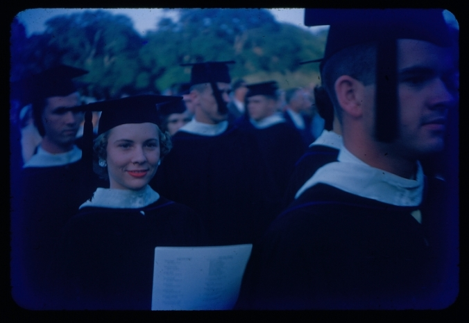 Rice Institute Commencement procession, 1955