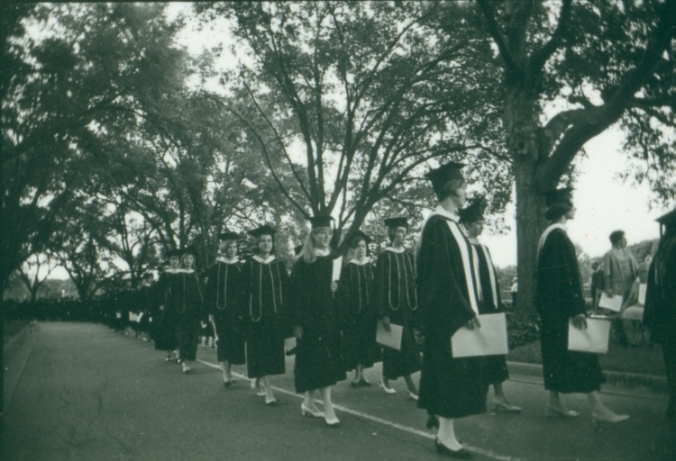 Rice University Commencement procession, 1968