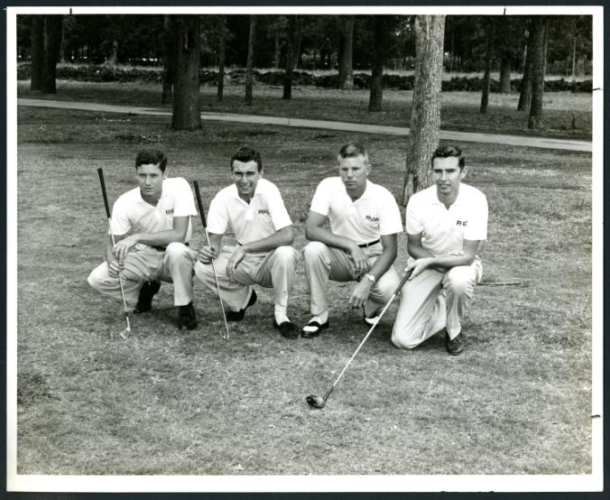 Men's golf team members, 1955