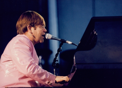 "Elton John performing during the ""Face to Face Tour '95"""