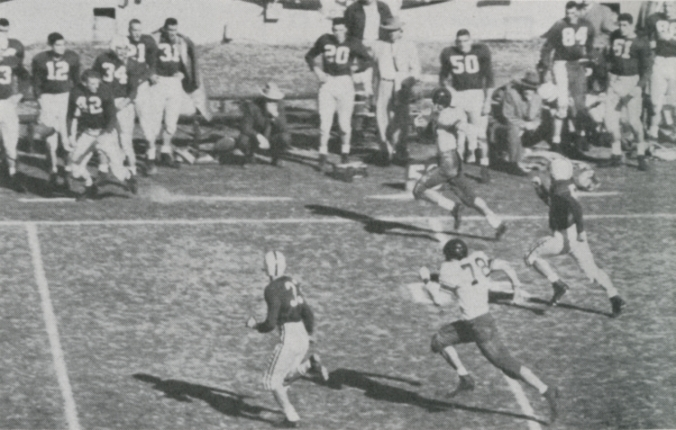 Cotton Bowl game, Rice 28, Alabama 6, 1954
