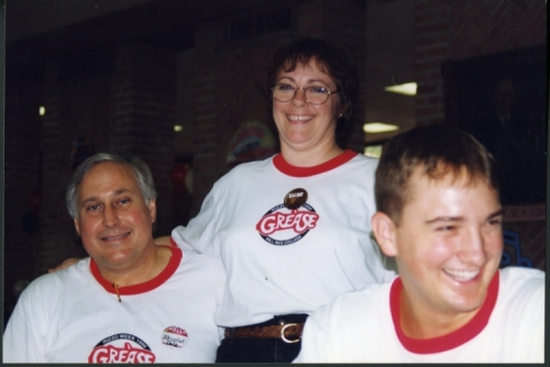 Will Rice College Masters' Dale and Elise Sawyer with a student during O-Week, 1998