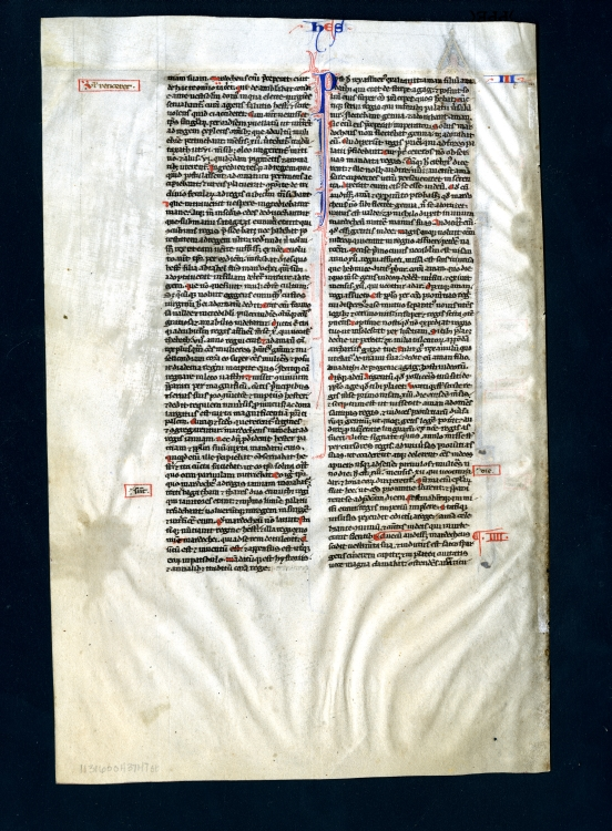 Leaf from a Bible, Side 2