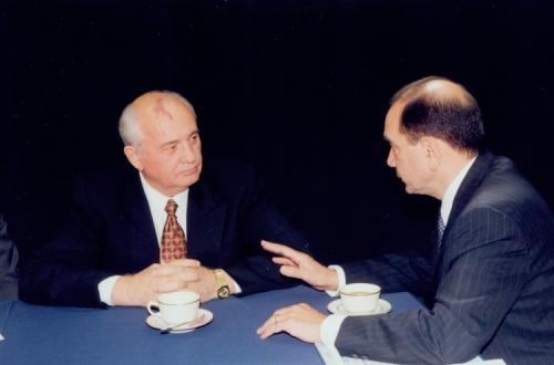 Mikhail Gorbachev and Ambassador Edward P. Djerejian, 1997