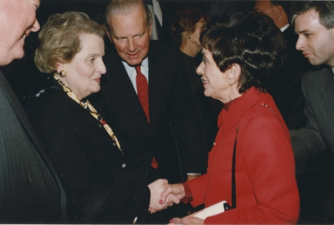James A. Baker, III introducing Madeleine Albright to Mrs. Lee H. Jamail, 1997