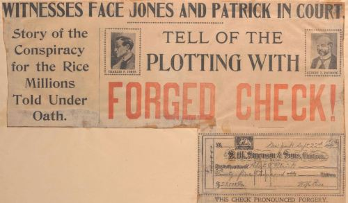 The Arraignment Hearing of Albert T. Patrick and Charles F. Jones, October 15, 1900