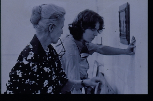 Dominique de Menil with student, 1972