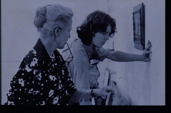 Dominique de Menil with student, 1972