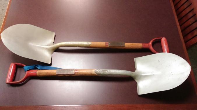 Shovels used for the November 9, 1957 groundbreaking