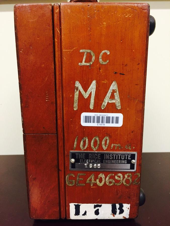 Mil-ammeter, side left