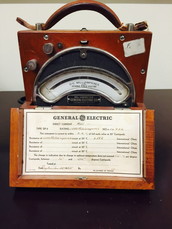 Mil-ammeter, General Electric, 1935
