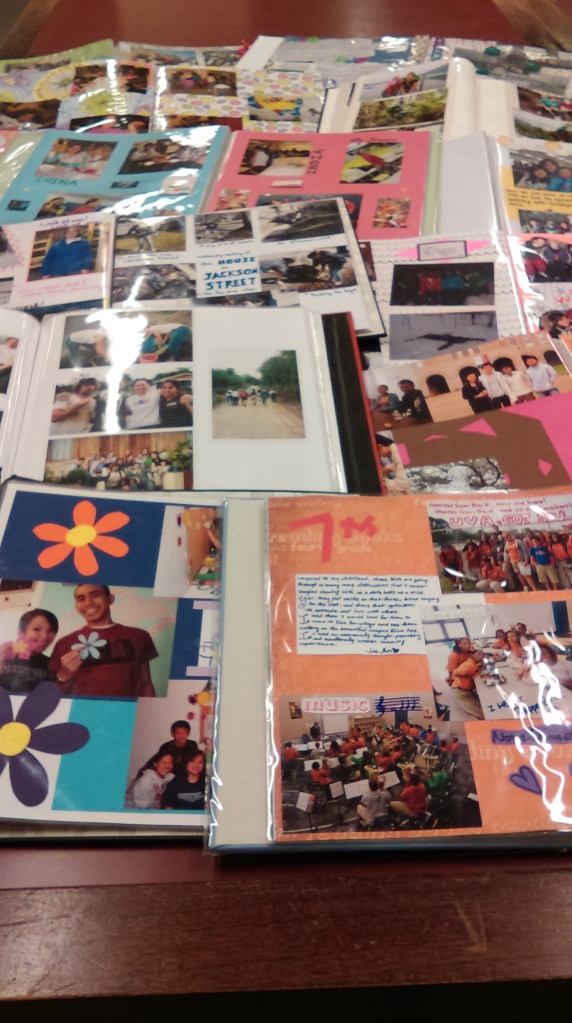 A small selection of the scrapbooks