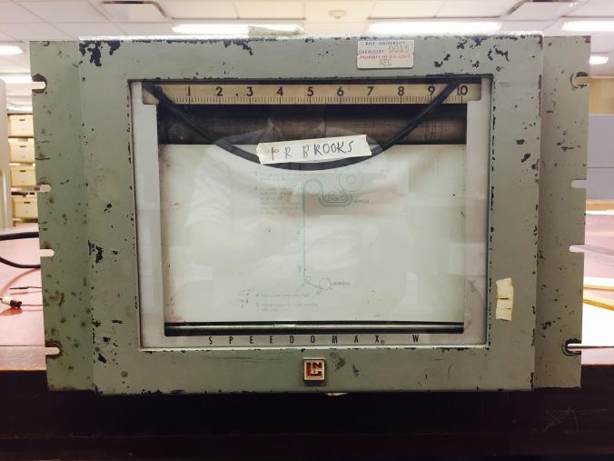 Speedomax W Recorder, Front