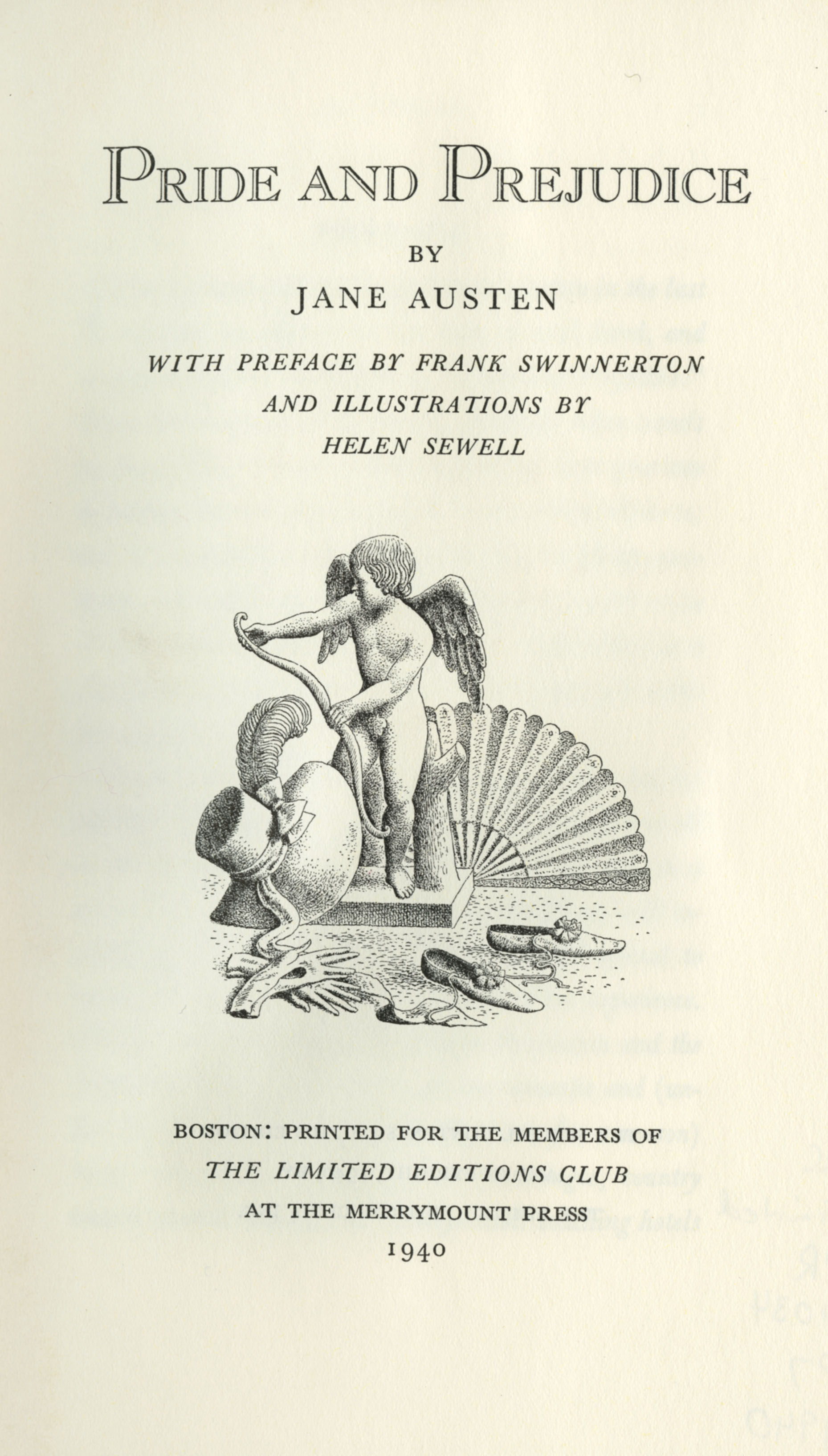 rare books what s in woodson pride and prejudice title page