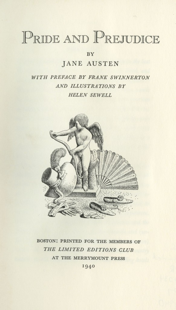 Pride and Prejudice, title page