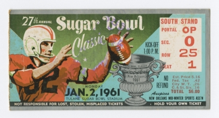 Sugar Bowl ticket 1961