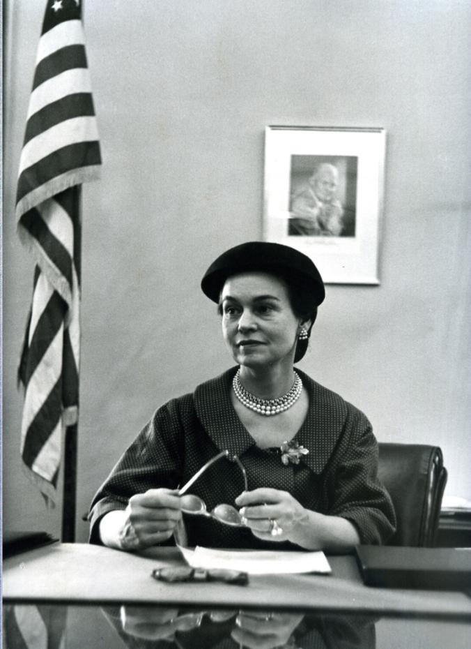 Secretary Hobby, 1955