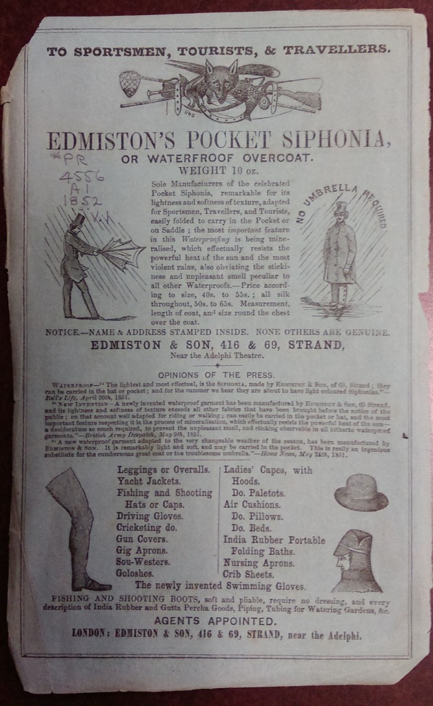 Inside cover, advertisement
