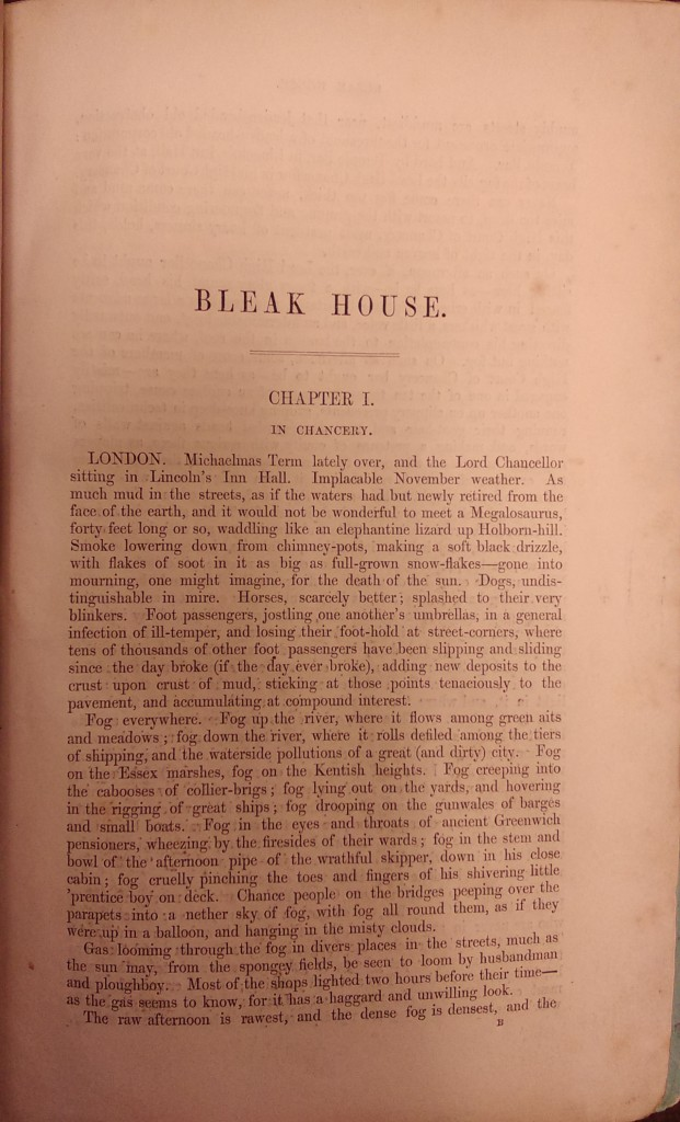 First page of text