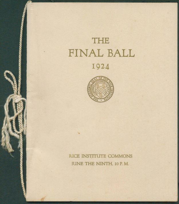 The Final Ball dance card