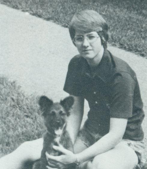 Annise Parker and Kodiak, 1977