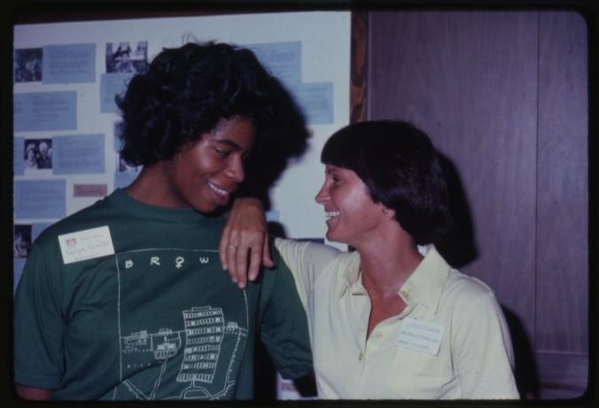 Freshman Week - Goya Qualls, advisor, and Linda Tucker, associate