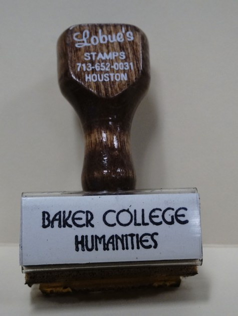 Baker College Humanities stamp