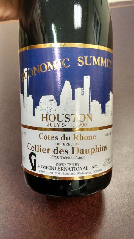 front bottle label