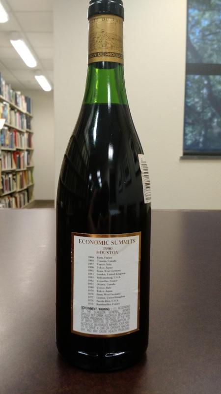 whole wine bottle back