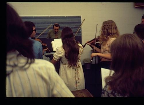 Shepherd School classroom, 1975