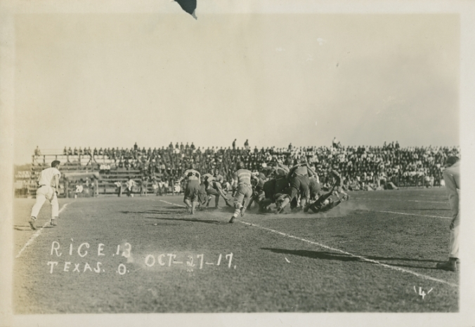 Rice Institute vs. University of Texas football game, Oct. 27, 1917