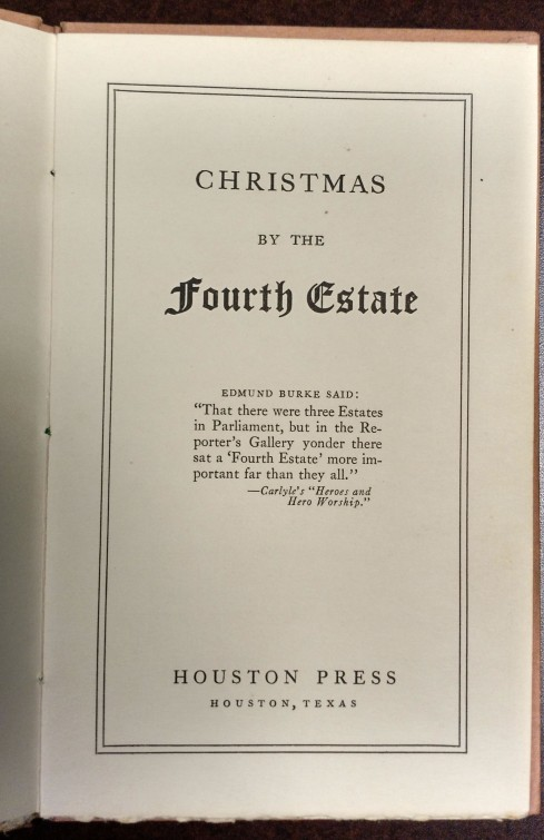 Christmas by the Fourth Estate