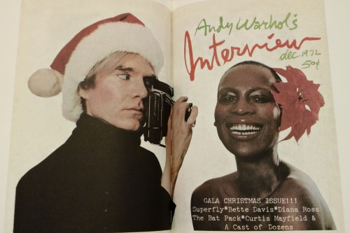 December 1972 cover with Andy Warhol and Naomi Sims