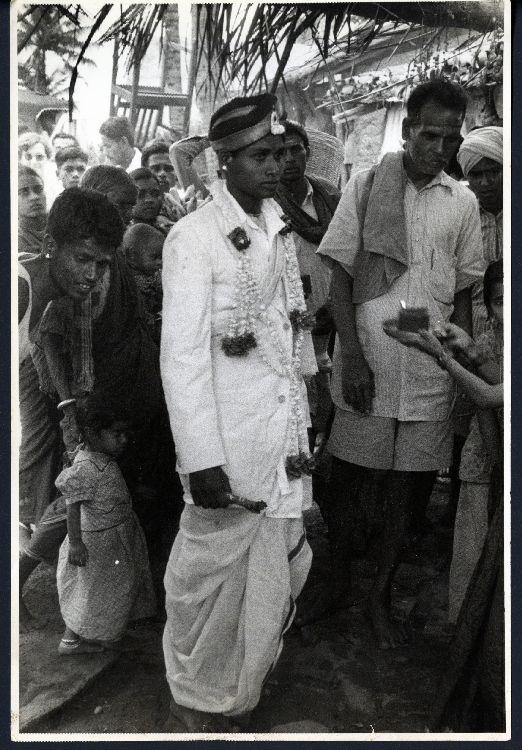 Bridegroom at Hindi wedding, ca. 1950