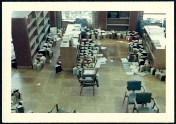 The library after a flood, May 13, 1966