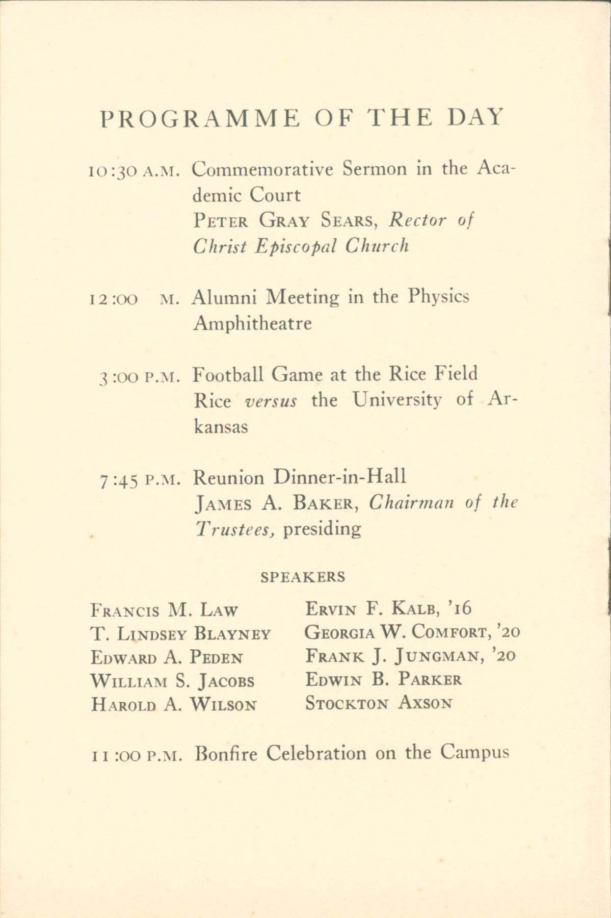 1919-reunion-program