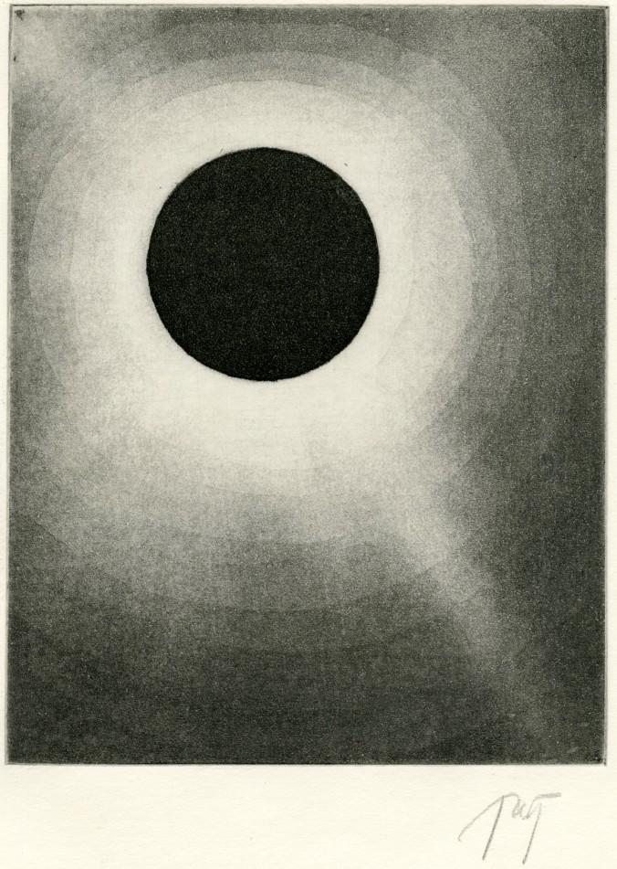 aquatint solar eclipse print